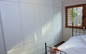 Szafa sypialnia - fronty frezowane 1